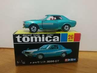 全新絕版tomica 黑黃盒 toyota celica 1600 gt