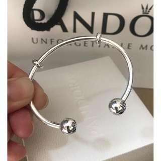 原價$799 PANDORA Moments Silver open Bangle
