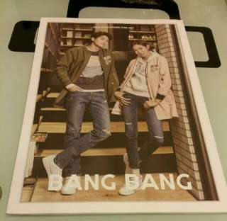 韓星 ZE:A 樸烔植 朴炯植 Park Hyung Sik 及 After School 金宥真 UIE Bang Bang 宣傳書一本