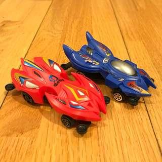 Toy plastic race cars pull back -- BUNDLE DEAL beli 2
