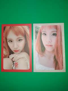 WTT CHAEYOUNG'S Card to Mina's card