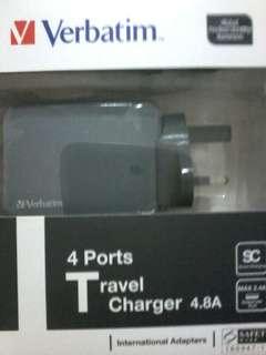 Verbatim 4 Ports Travel Charger 4.8A