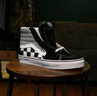 VANS SK8 HI MIXED CHECKERBOARD