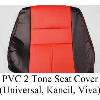 PVC 2 Tone Seat Cover (Black+Red,Black+Blue)