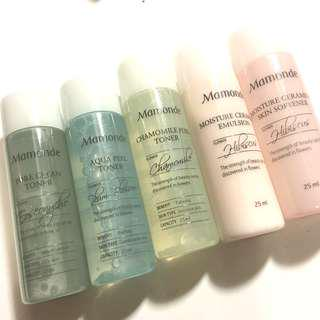 Mamonde toner/emulsion/skin softener