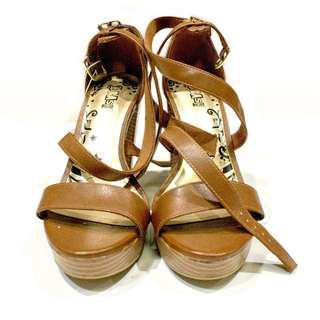 Payless Heels Brown