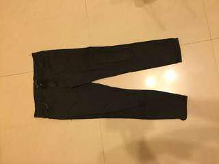 黑色直筒九分褲