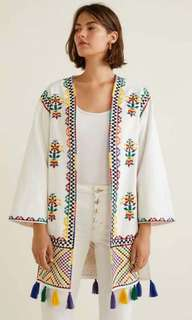 Embroidery Kimono Cardigan
