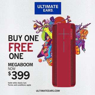 Ultimate Ears MEGABOOM Speaker (Purple/Red) *Buy 1 Get 1 Free