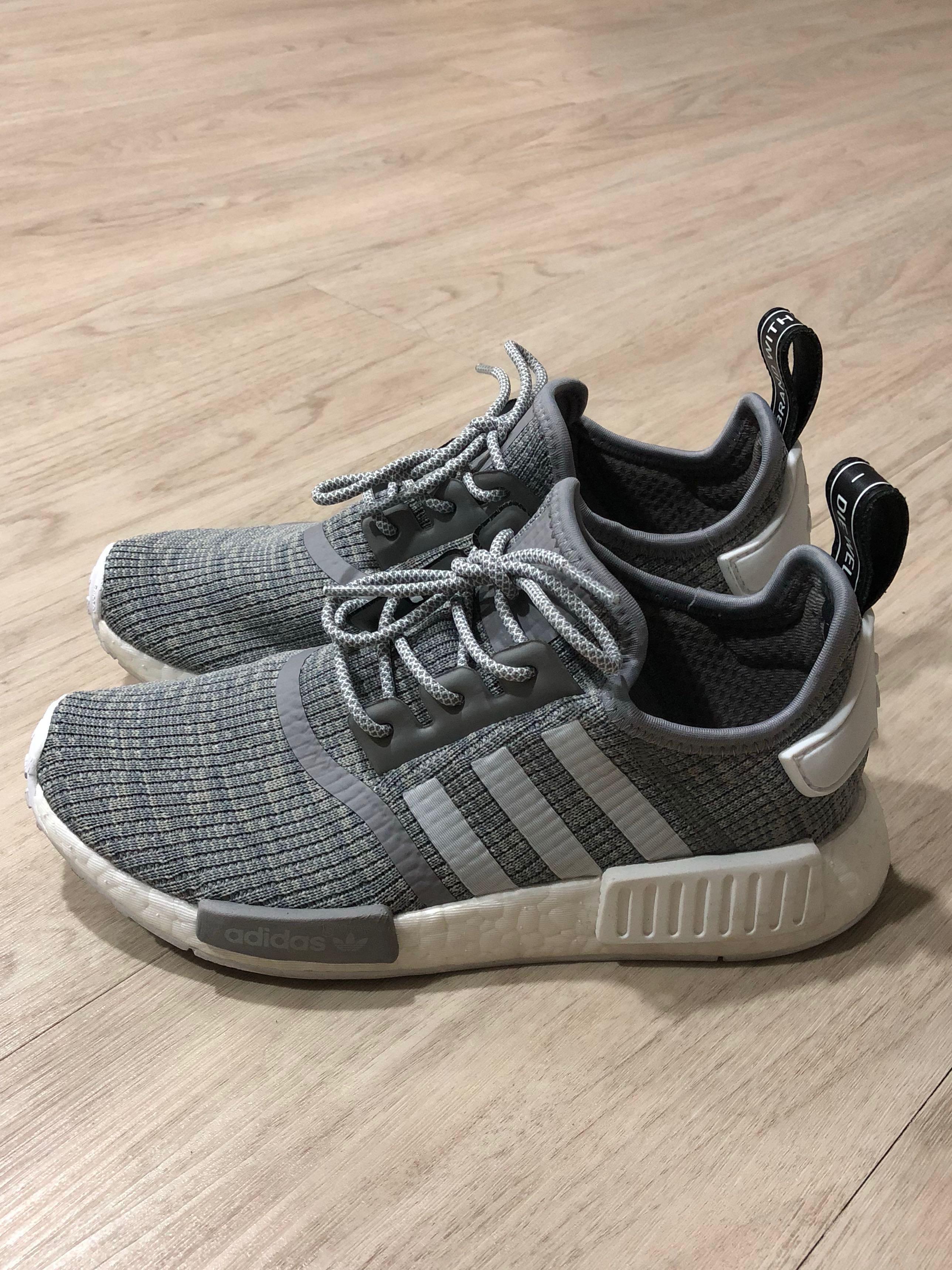 7196a013f3d2b Adidas NMD R1 Glitch Grey BB2886 UK5