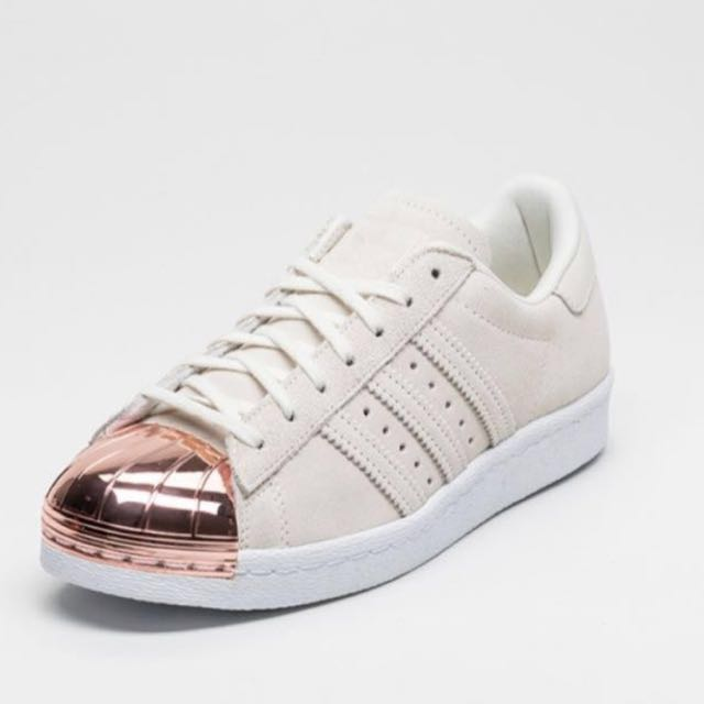 Adidas Superstar 80s cream suede with Rose Gold metal toe W ( women's ), Women's Fashion, Shoes on Carousell