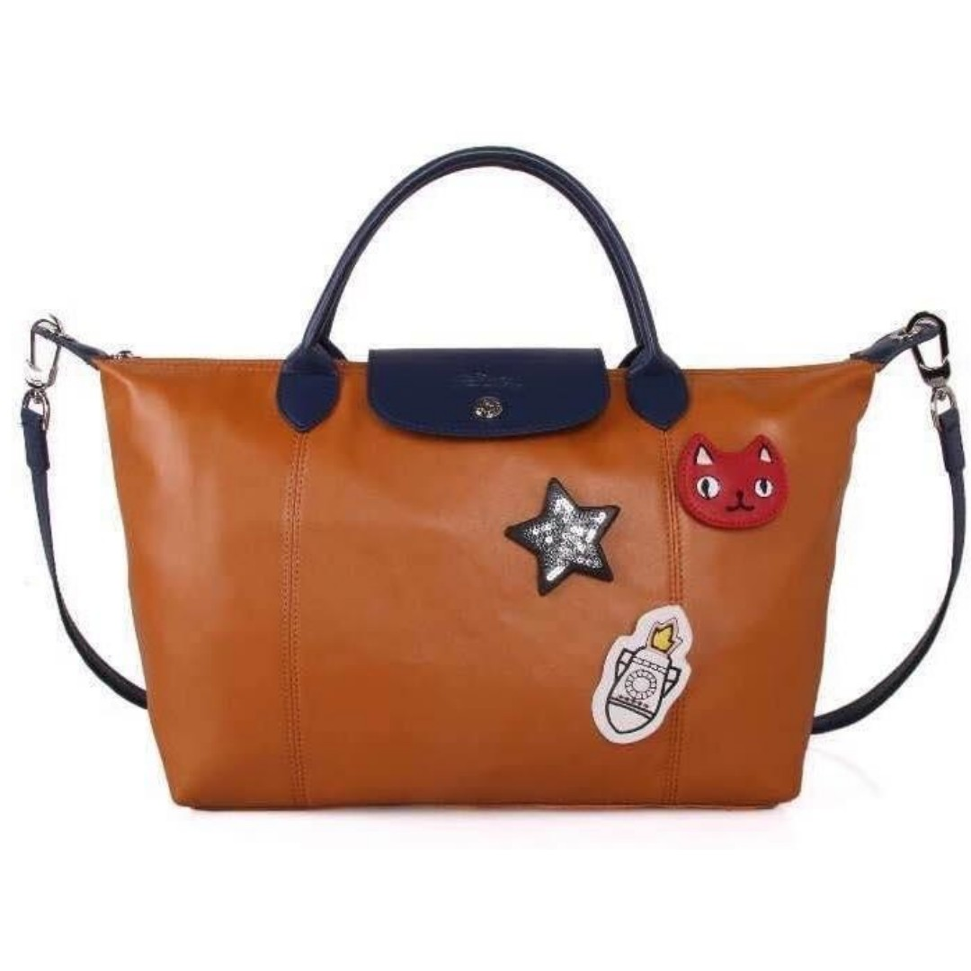 Authentic Quality Longchamp Neo with Patches Tote Bag Shoulder Bag Sling Bag  Crossbody Bag Water Proof from Vietnam Medium Size Women s Bag 6d35f4c333b79