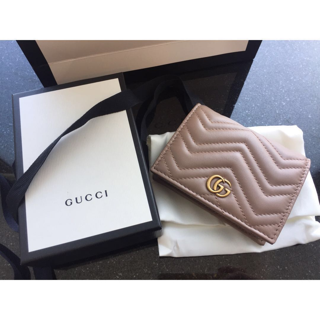 timeless design 9ad4b a7b76 Brand New Gucci Marmont Card Wallet (Dusty Pink)