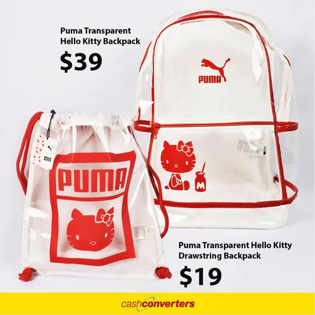 8f067433a36 BRAND NEW PUMA X HELLO KITTY BACKPACKS, Women s Fashion, Bags   Wallets,  Backpacks on Carousell