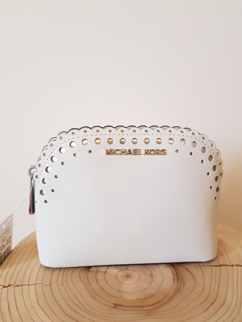 085bbc57243a BRAND NEW WT Michael Kors Cindy Travel Cosmetic Pouch Saffiano ...