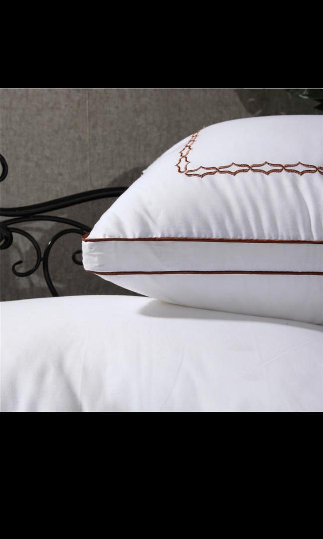 BROWN CHANEL EMBROIDERY PILLOW CASES