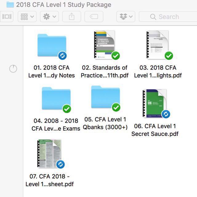 CFA Study Notes Lvl 1