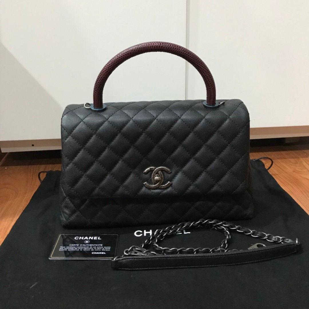 072e93f29726 Chanel Coco Handle Bag Small in Lizard Handle, Luxury, Bags & Wallets,  Handbags on Carousell