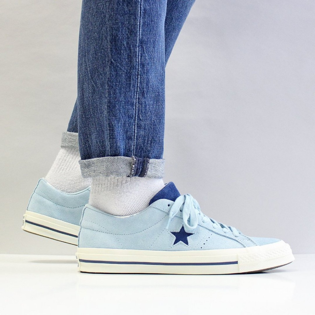 025d0bff1c02 FLASH SALE  CONVERSE ONE STAR OX SHOES – OCEAN BLISS NAVY EGRET ...