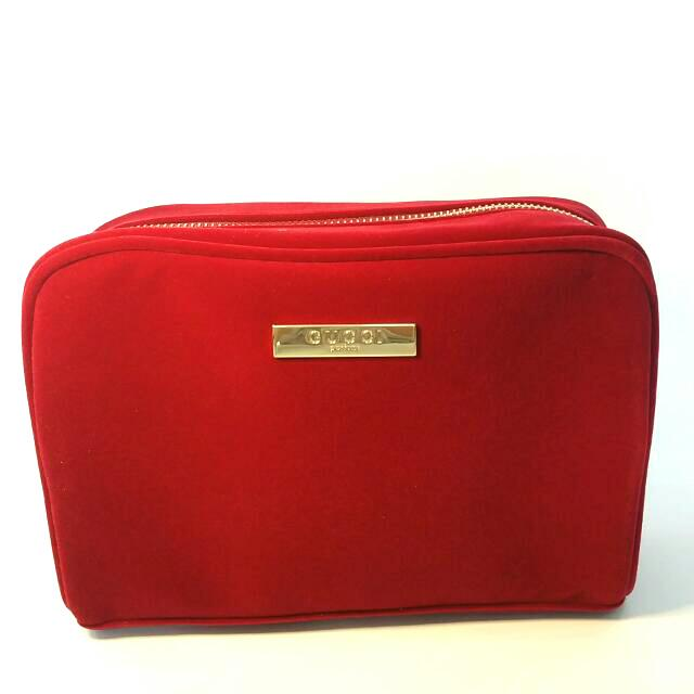 e26baf83099 Gucci Red Velvet Cosmetic Pouch
