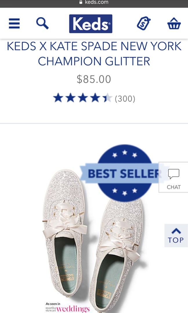 a1a46893d85e Keds X Kate Spade New York Champion Glitter