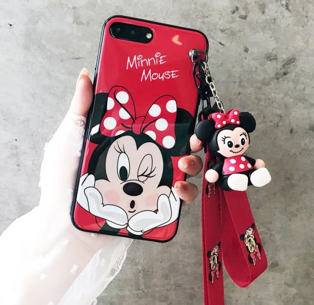 sale retailer fc3f1 391e9 MINNIE mouse iPhone 6/7/8/X Casing Soft Cover