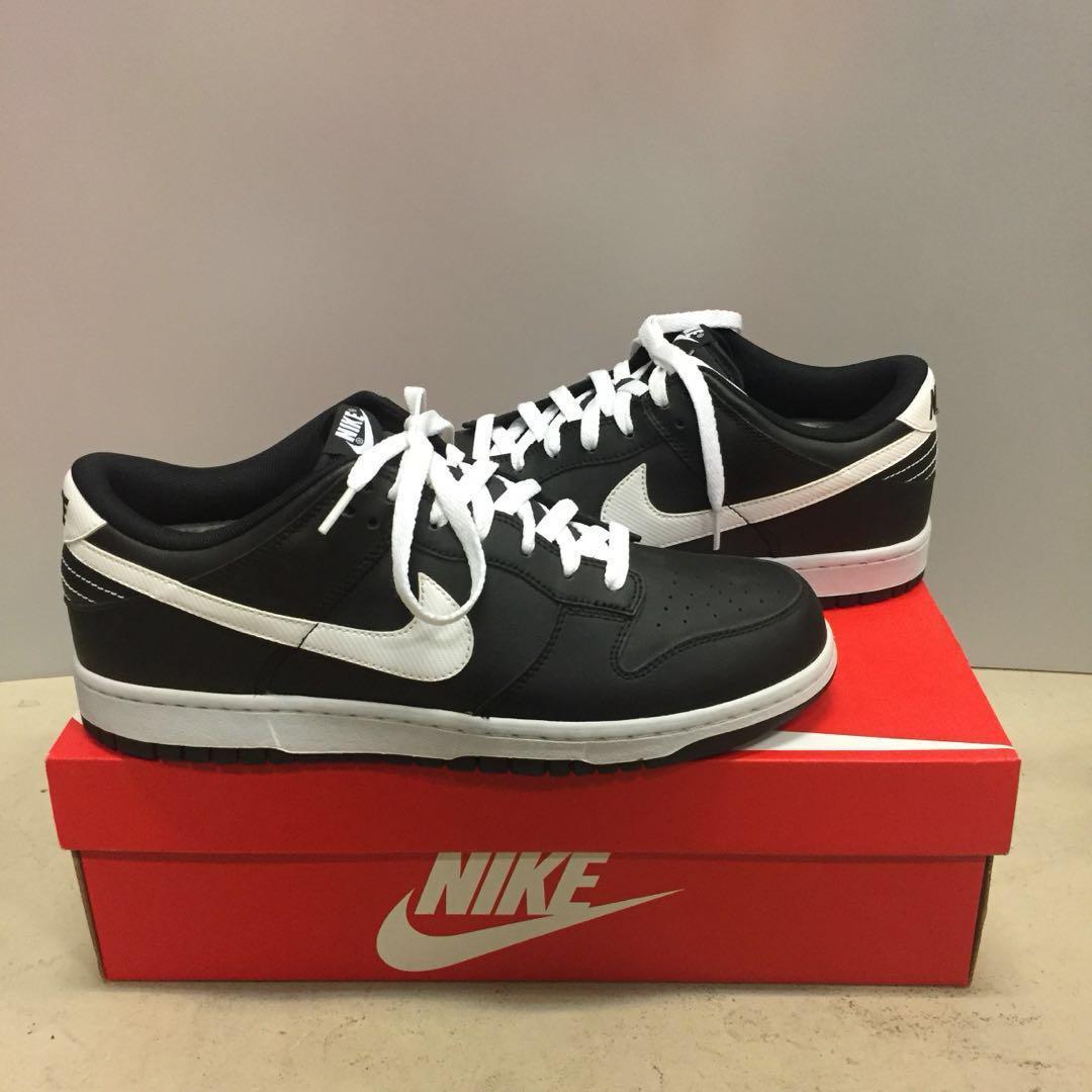 Nike Dunk Low Black White Swoosh US 10