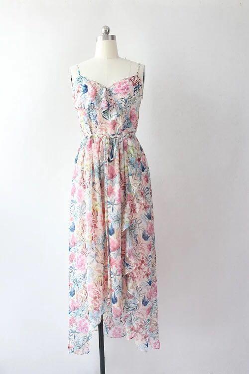 483904c57746 OASIS Floral maxi dress, Women's Fashion, Clothes, Dresses & Skirts ...