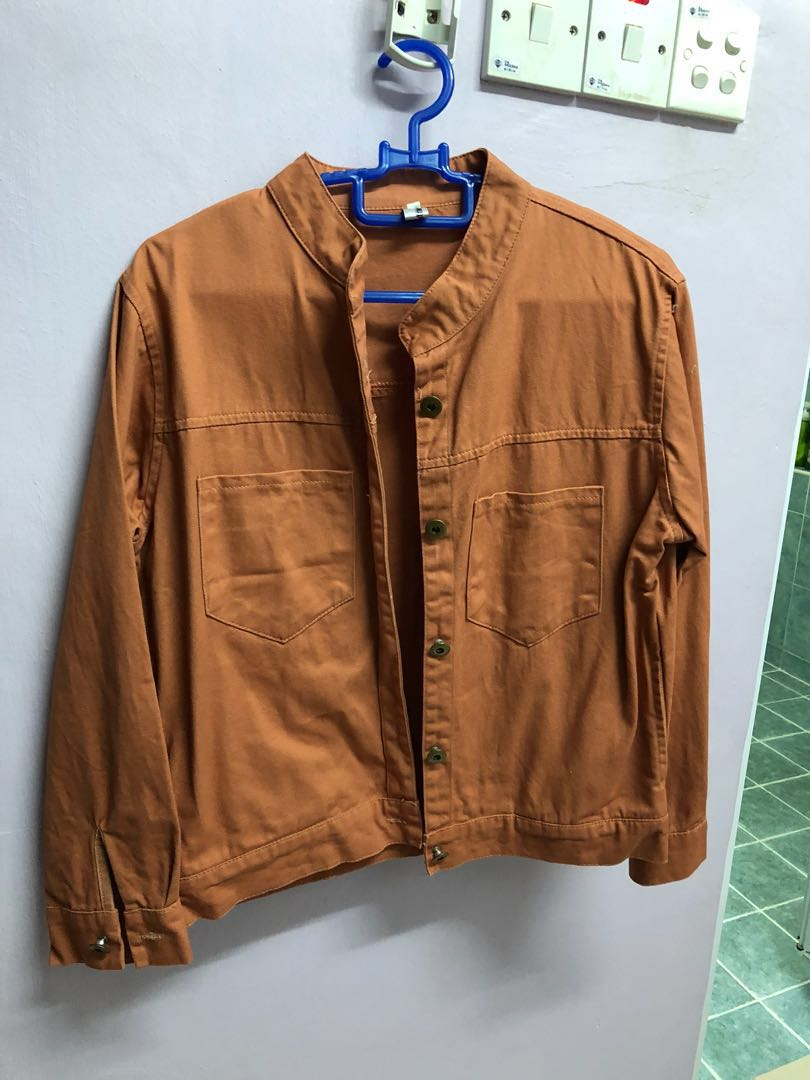 search for latest classic style big discount Peach Colour Worker Jacket