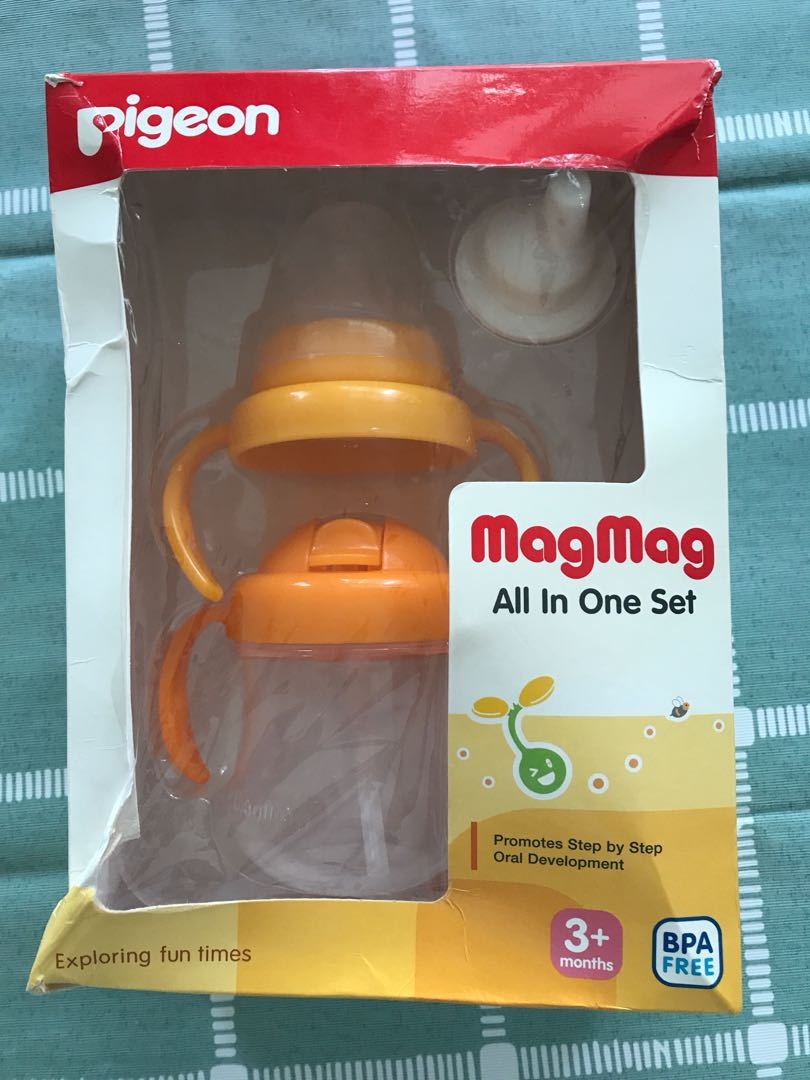 Pigeon Cup All In One Set Babies Kids Nursing Feeding On Carousell Baby Pacifier Step 3 Photo