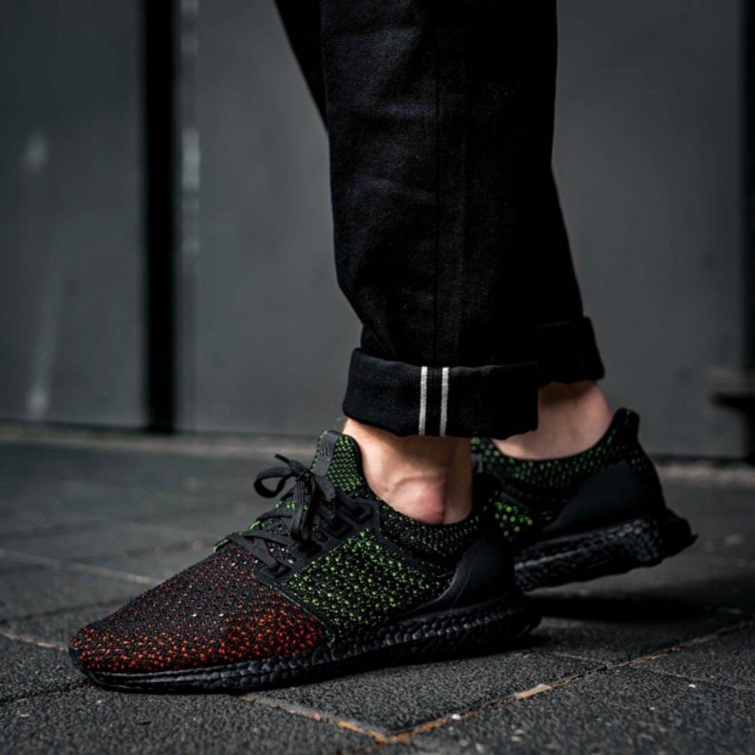 4dd22e963217d (PO) Adidas Mens Ultra Boost 4.0 Clima cool Black Solar Red