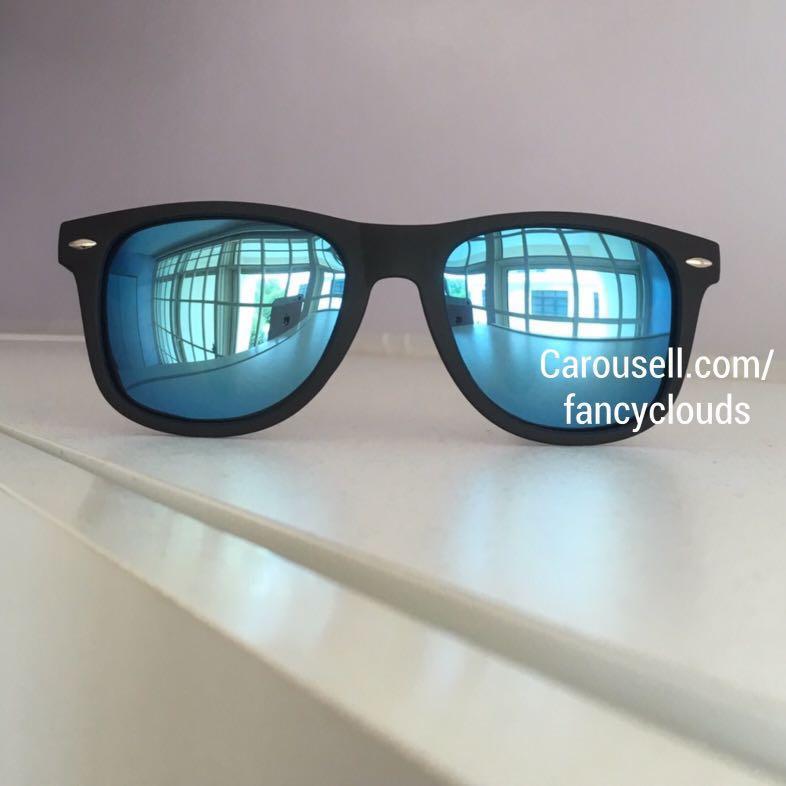 fa05cb4240 Polarized Sunglasses for Men Women Reflective Lens Matte Black Frame ...
