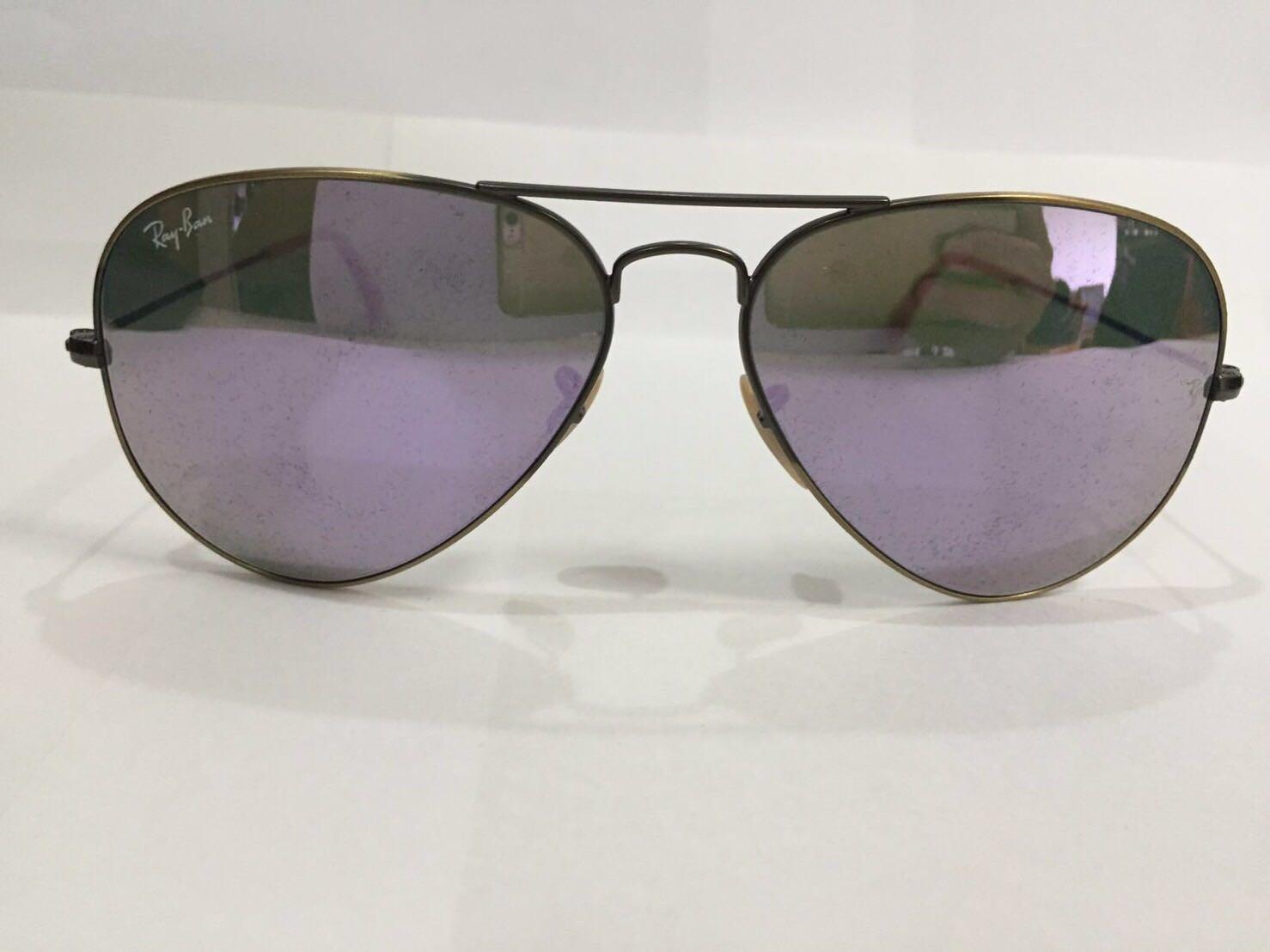 acae373f7e4 Preloved Rayban RB3025 Lilac Flash Lenses