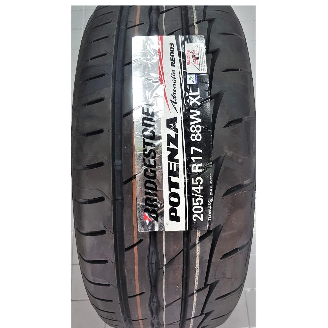 *PROMOTION* 205/45/17 BS POTENZA RE003