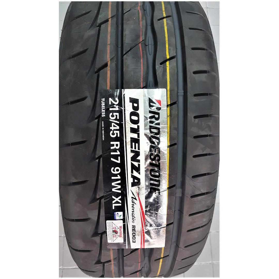 *PROMOTION* 215/45/17 BS POTENZA RE003