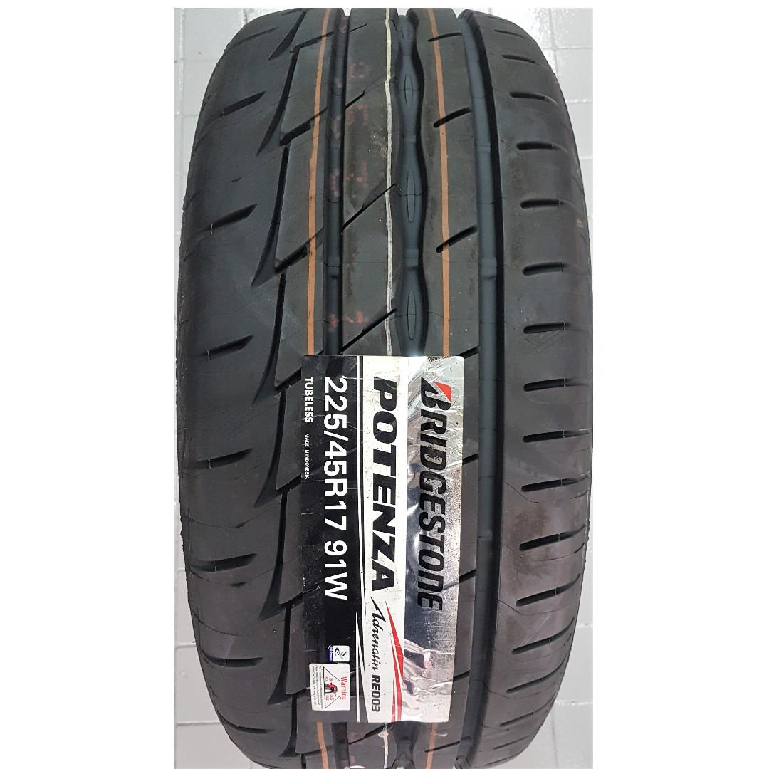 *PROMOTION* 225/45/17 BS POTENZA RE003