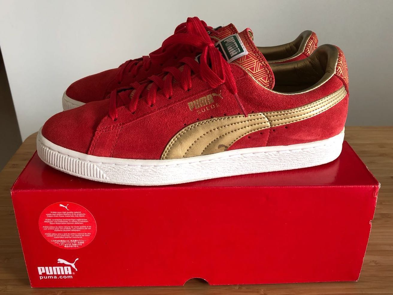 new style 12703 81df8 PUMA red suede - LIMITED EDITION!