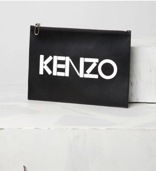 855c9f4486a Ready Stock | Kenzo Leather Clutch, Luxury, Bags & Wallets, Clutches ...