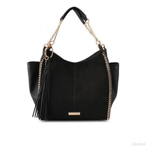0ca2e48cc5 River Island black chain slouch bag