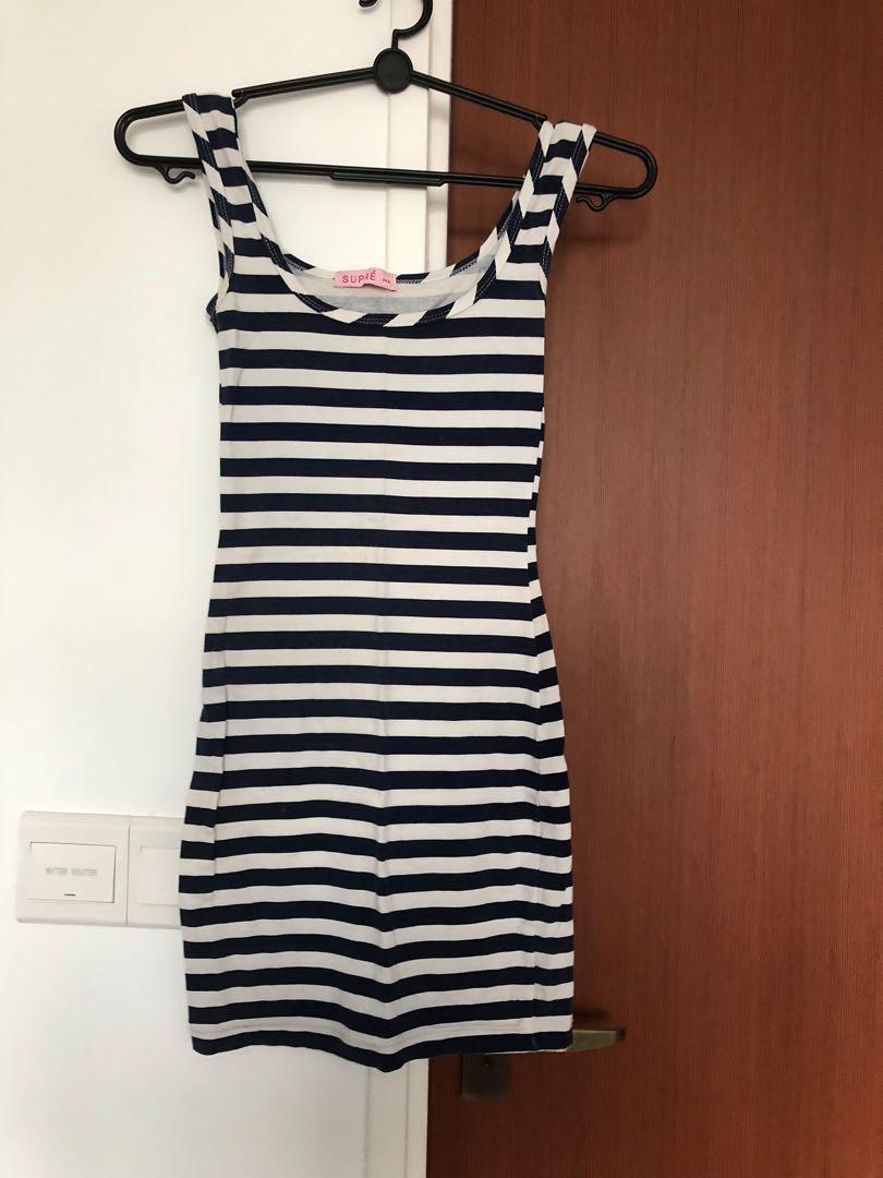 ed3182061 Supre Striped Nautical Dress