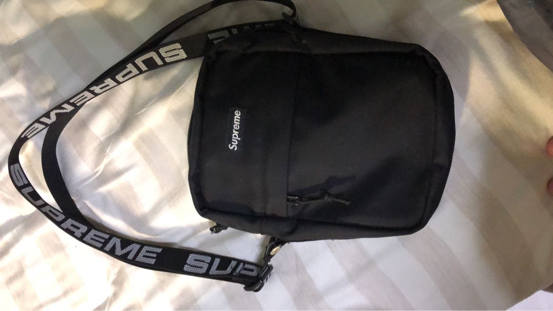 c39f0fa8 Supreme SS18 shoulder bag, Men's Fashion, Bags & Wallets, Sling Bags ...