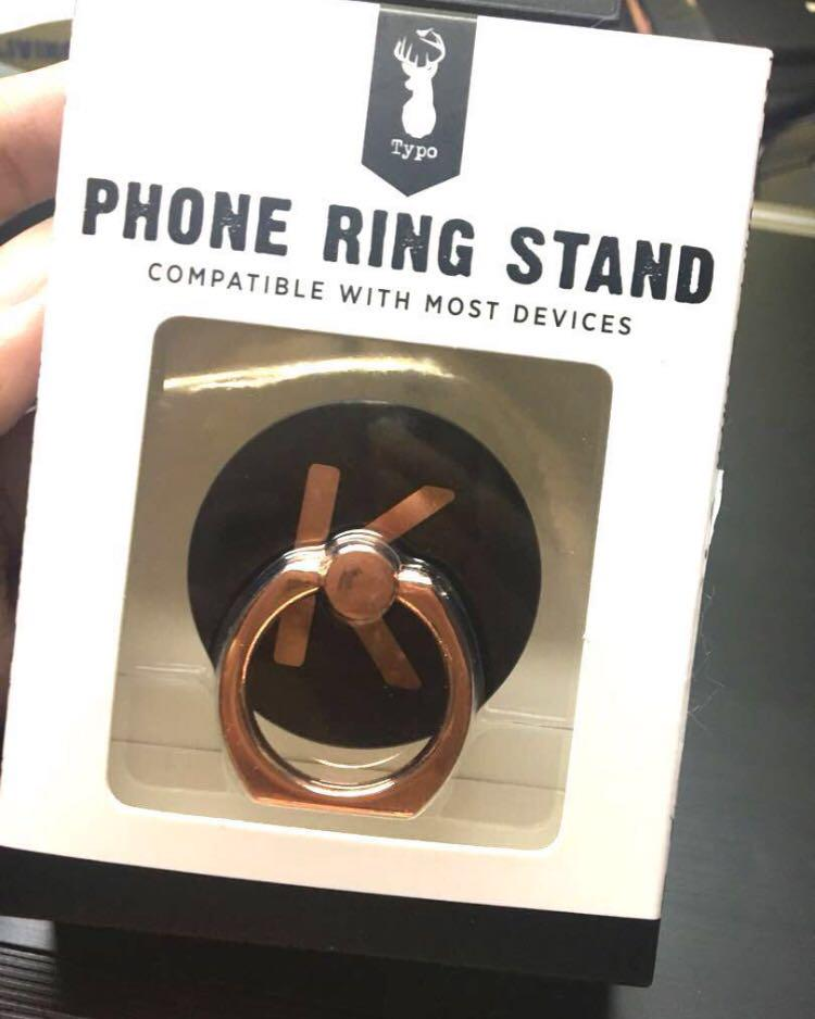 typo K letter phone ring stand, Mobile Phones & Tablets