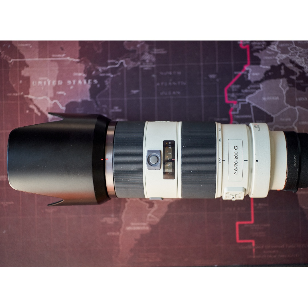 Used Sony 70 200mm F28 G Lens La Ea3 A To E Mount Adapter For Alpha Photo