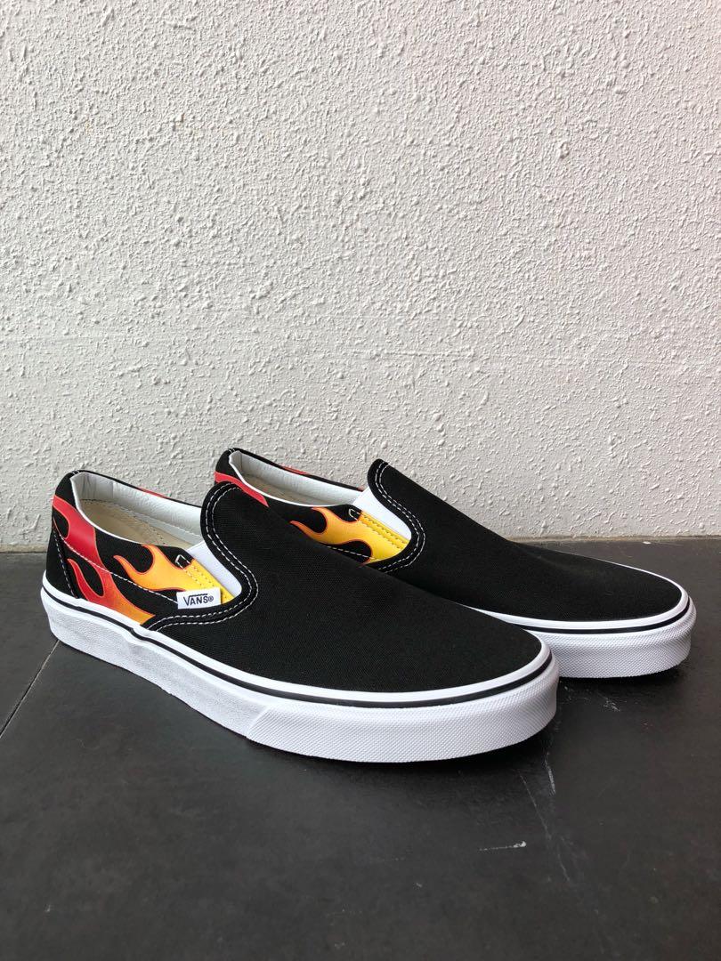 498338adaa6151 Vans Flame Slip On