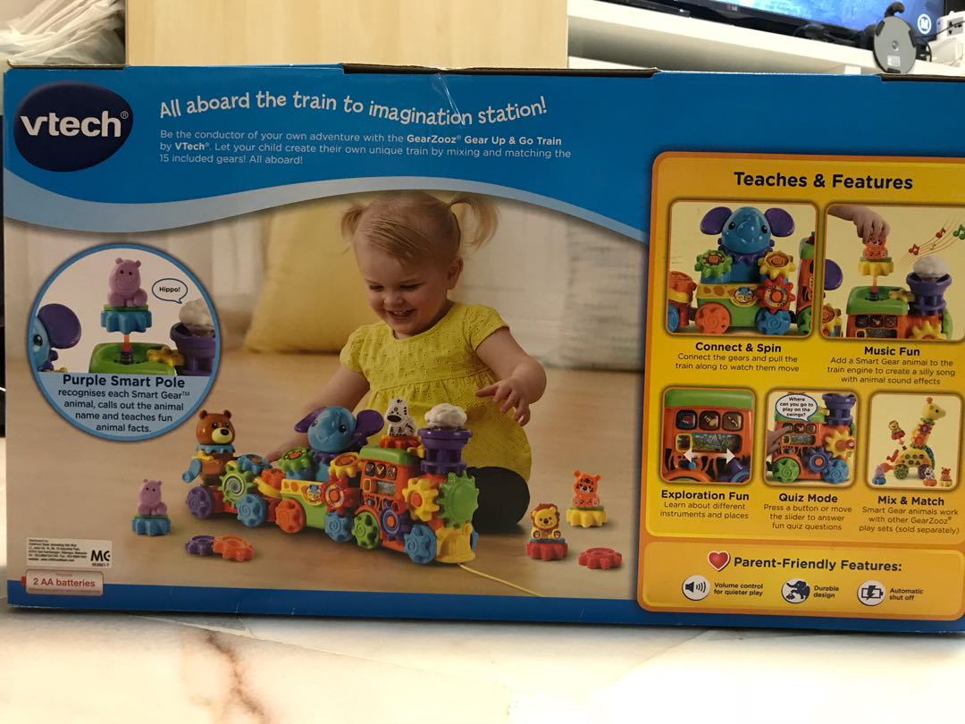 VTech Gear Up and Go Train, Babies & Kids, Toys for Babies & Kids on ...