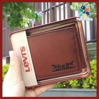 全新 Levi's Leather Mens' Wallet, Vintage Burn Brown 真皮銀包, 啡色