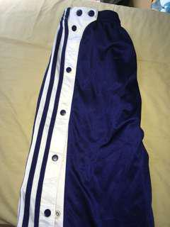 Vintage Adidas button up track pants