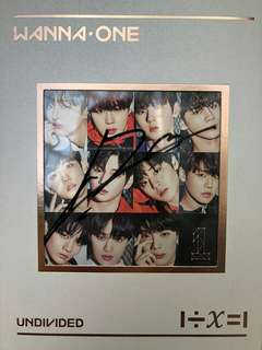 (KANG DANIEL SIGNED) Wanna One Undivided album