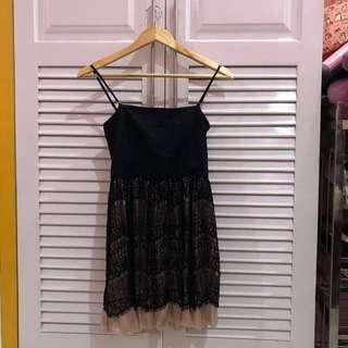 Black Semi Formal Lace Tube Dress