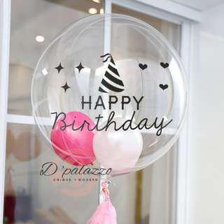 Transparent Balloon Stickers Happy Birthday Sticker Birthday Party Decoration
